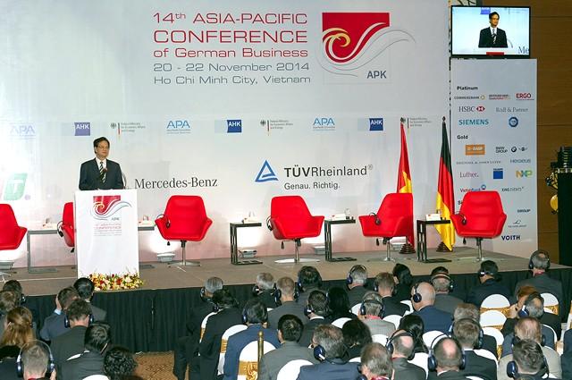 PM Vietnam, Nguyen Tan Dung menghadiri Konferensi Badan Usaha Jerman  kawasan Assia-Pasifik - ảnh 1