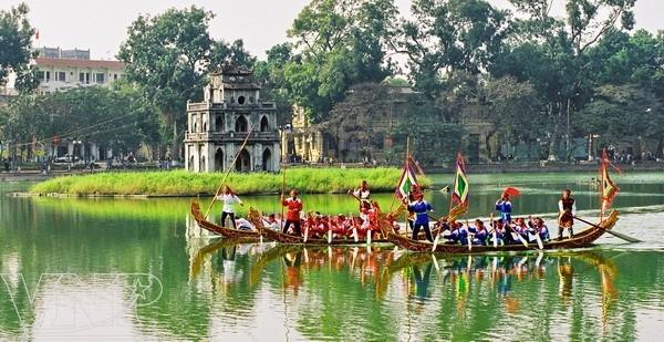 Memperkenalkan sepintas lintas tentang sejarah danau Hoan Kiem - ảnh 1