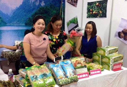 Многие предприятия сотрудничают с крестьянами в поиске рынка сбыта сельхозпродукции провинции Баккан - ảnh 1
