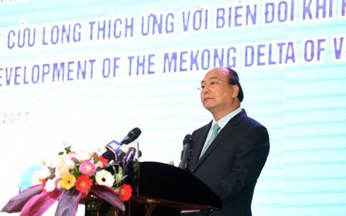 Премьер Вьетнама выдвинул меры по устойчивому развитию дельты реки Меконг - ảnh 1