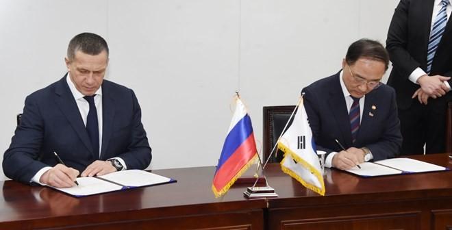 Россия и Южная Корея подписали план действий по двустороннему экономическому сотрудничеству - ảnh 1