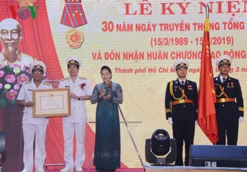 Нгуен Тхи Ким Нган приняла участие в 30-летнем юбилее компании «Новый порт Сайгон» - ảnh 2