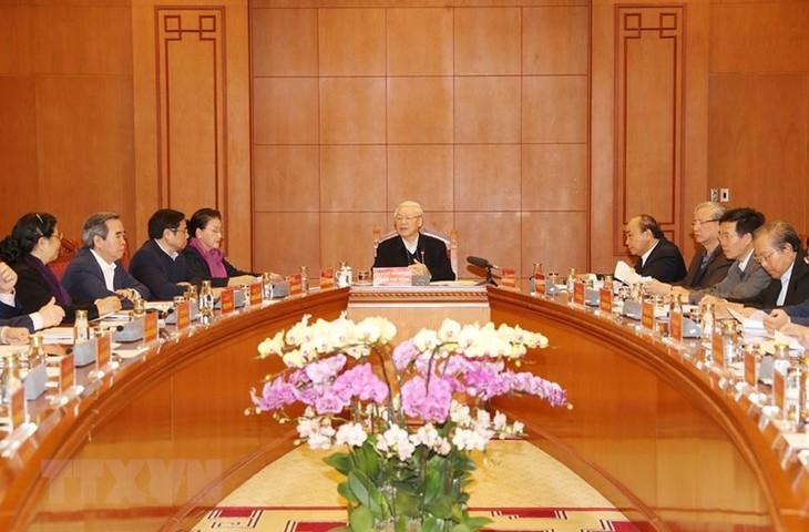 Нгуен Фу Чонг председательствовал на заседании подкомиссии по подготовке документов к 13-му съезду КПВ - ảnh 1