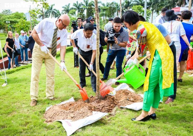 Во Вьетнаме прошла акция «Сад памяти» в честь 75-летия Победы в ВОВ - ảnh 1