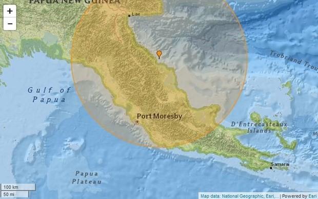 Мощное землетрясение произошло у берегов Папуа - Новой Гвинеи - ảnh 1