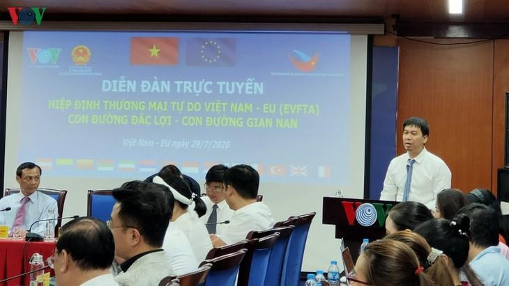 Радио «Голос Вьетнама» – соорганизатор онлайн-форума «Соглашение EVFTA: шансы и вызовы» - ảnh 1