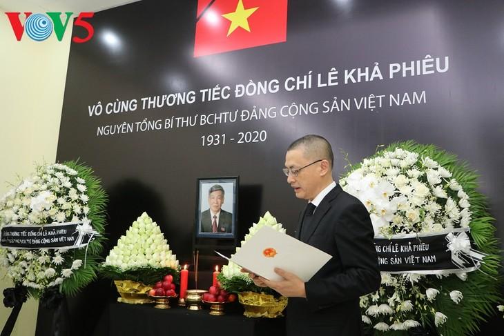 Мировые лидеры почтили память бывшего генерального секретаря ЦК КПВ Ле Кха Фиеу - ảnh 2