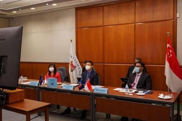 Сингапур подчеркнул роль АИПА в борьбе с пандемией COVID-19 - ảnh 1