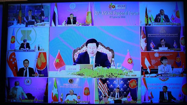 В онлайн формате состоялся 27-й Региональный форум АСЕАН - ảnh 2
