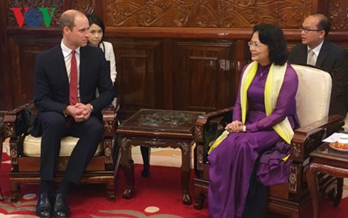Le prince William reçu par la vice-présidente vietnamienne - ảnh 1