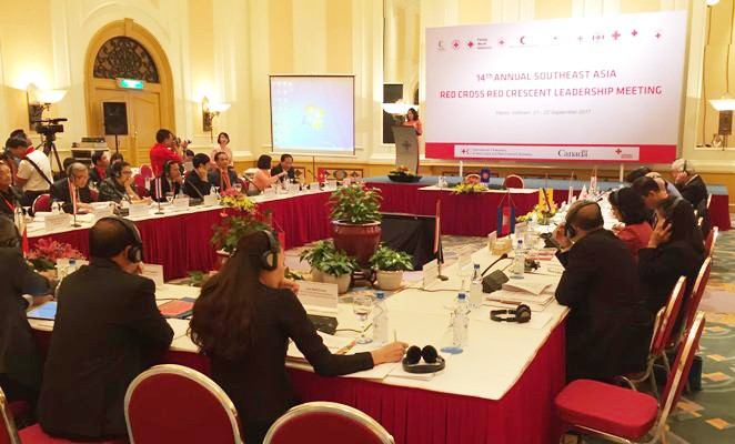 La 14ème conférence des dirigeants de la Croix rouge et du Croissant rouge de l'Asie du Sud-Est - ảnh 1