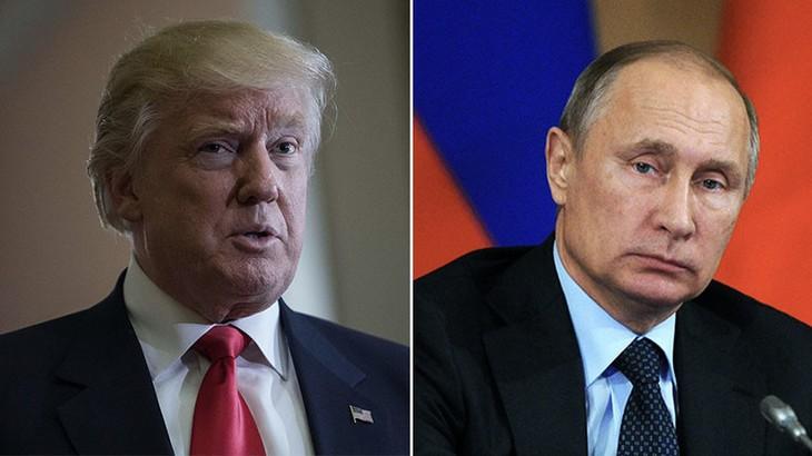 Poutine et Trump discutent par téléphone du processus de paix au Moyen-Orient - ảnh 1