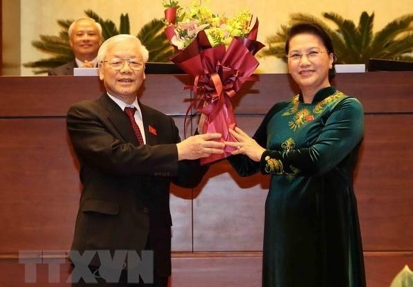 La presse japonaise parle de l'élection de Nguyên Phu Trong au poste de président vietnamien - ảnh 1