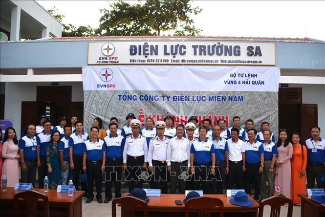 EVN inaugure son bureau à Truong Sa   - ảnh 1