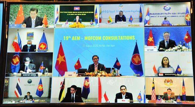 19e consultation des ministres de l'Économie ASEAN-Chine - ảnh 1