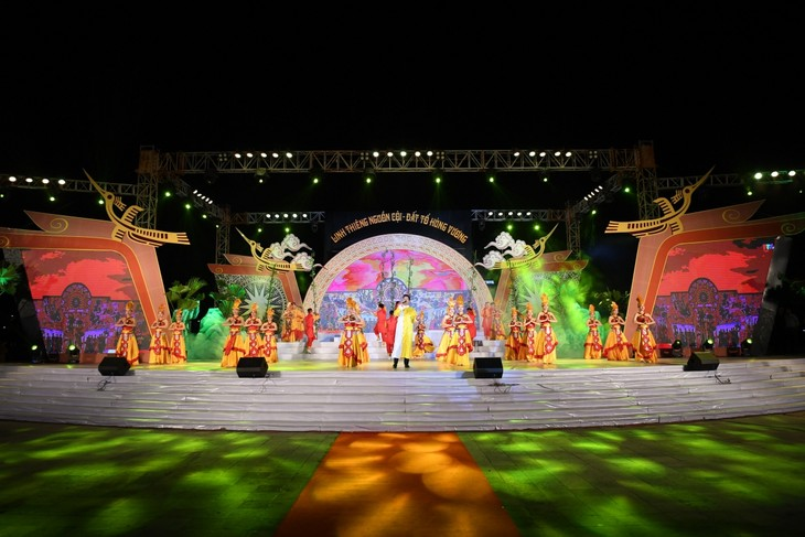 Programme artistique à l'occasion de la fête des rois Hùng - ảnh 1