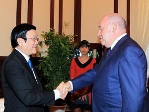 Chủ tịch nước tiếp Đặc phái viên của Tổng thống LB Nga  - ảnh 1