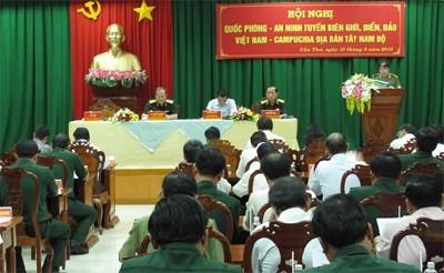 Hội nghị Quốc phòng-an ninh tuyến biên giới biển, đảo Việt Nam -Campuchia địa bàn Tây Nam bộ - ảnh 1