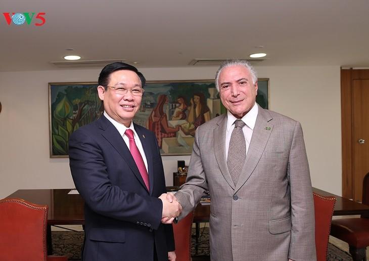 Phó Thủ tướng Chính phủ Vương Đình Huệ thăm chính thức CHLB Brazil - ảnh 1