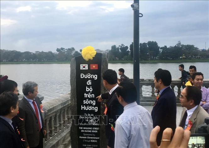 Đưa vào sử dụng cầu đi bộ trên sông Hương do Chính phủ Hàn Quốc tài trợ  - ảnh 1