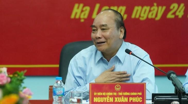 Thủ tướng Nguyễn Xuân Phúc thăm, nói chuyện với công nhân mỏ than Hà Lầm - ảnh 1