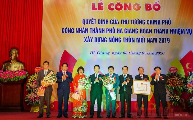 Thủ tướng Chính phủ công nhận thành phố Hà Giang hoàn thành nhiệm vụ xây dựng nông thôn mới - ảnh 1
