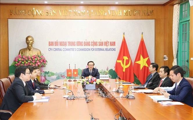 Hội đàm trực tuyến hai Đảng Việt Nam và Nhật Bản - ảnh 1