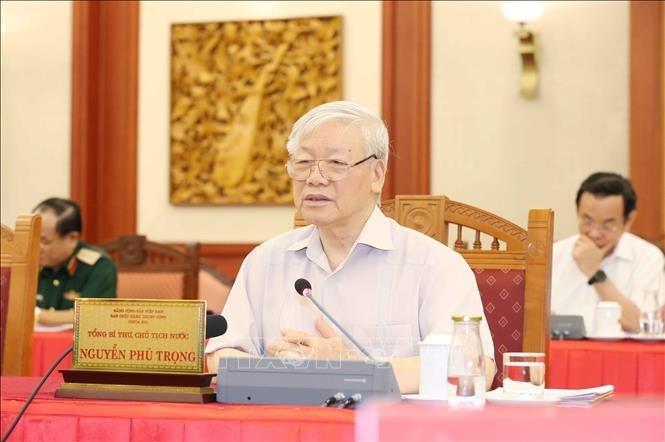 Bộ Chính trị cho ý kiến về văn kiện và nhân sự Đại hội Đảng bộ Công an - ảnh 2