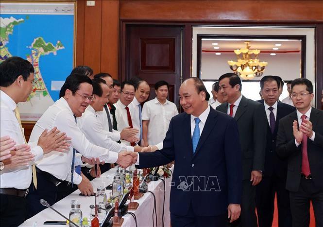 Chủ tịch nước Nguyễn Xuân Phúc làm việc tại miền Trung - ảnh 1