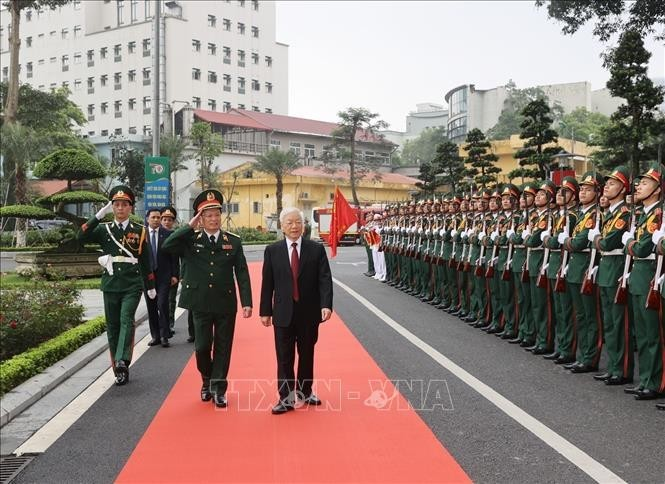 Tổng Bí thư Nguyễn Phú Trọng dự kỷ niệm 70 năm truyền thống Bệnh viện Trung ương Quân đội 108 - ảnh 1