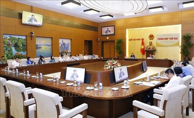 Phó Chủ tịch Quốc hội Nguyễn Khắc Định chủ trì Phiên họp Tiểu ban Văn bản pháp luật và Thông tin, tuyên truyền - ảnh 1