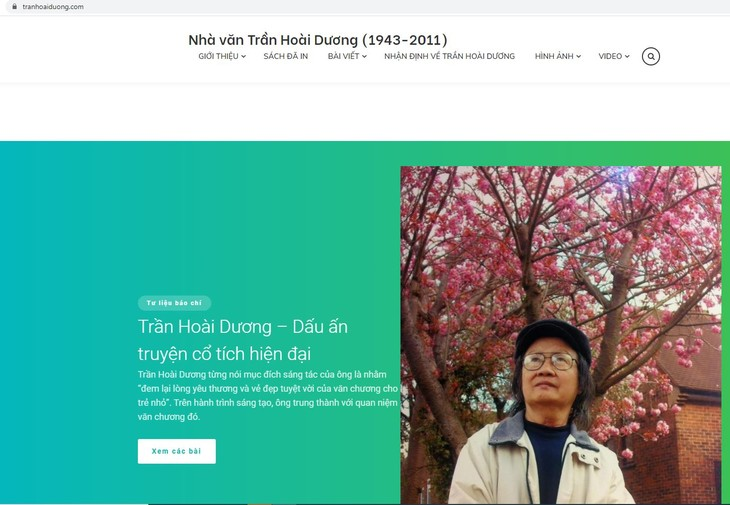 Ra mắt website về nhà văn Trần Hoài Dương  - ảnh 2