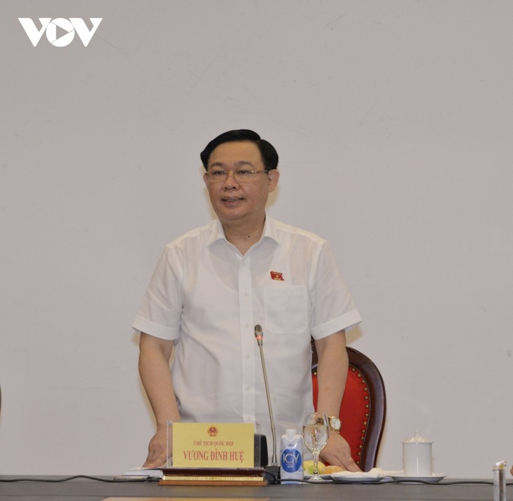 Chủ tịch Quốc hội Vương Đình Huệ làm việc với Ban Dân nguyện - ảnh 1