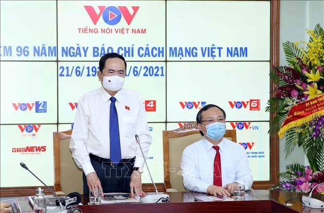 Phó Chủ tịch thường trực Quốc hội Trần Thanh Mẫn thăm và chúc mừng Đài Tiếng nói Việt Nam nhân Ngày 21/6 - ảnh 1