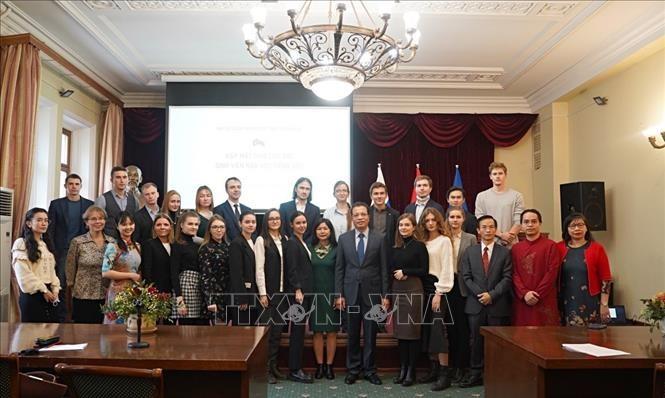Giao lưu giữa các sinh viên học tiếng Việt tại LB Nga - ảnh 1