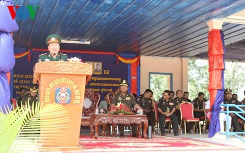 พิธีเปิดหอประชุมโรงเรียนนายทหารกองทัพกัมพูชาที่เวียดนามอุปถัมภ์ - ảnh 1