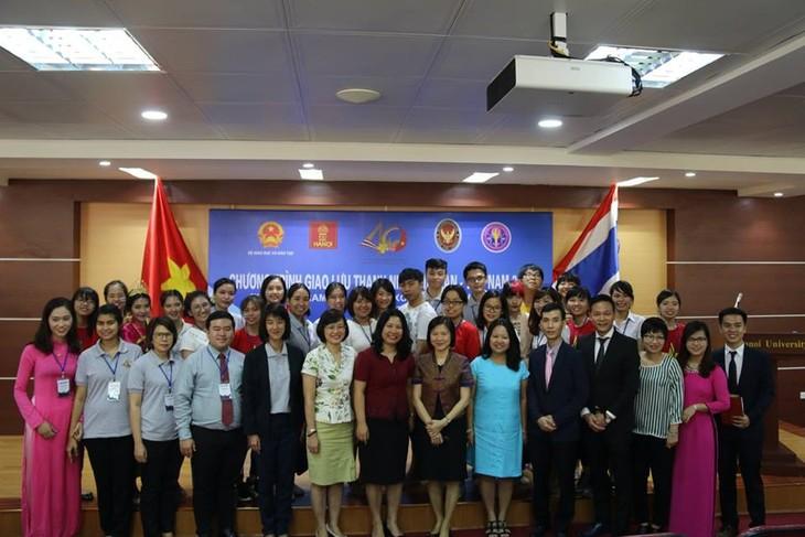 โครงการแลกเปลี่ยนเยาวชนเวียดนาม-ไทยมีส่วนร่วมกระชับสัมพันธไมตรีระหว่างเยาวชนทั้ง 2 ประเทศ - ảnh 1