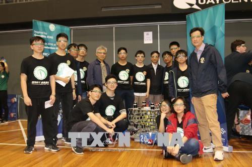 เวียดนามเข้าร่วมการแข่งขันหุ่นยนต์ First Robotics ณ ประเทศออสเตรเลีย - ảnh 1