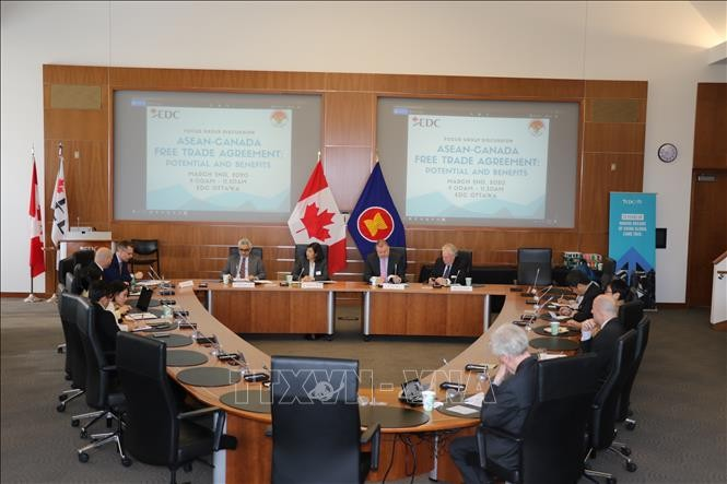 การสัมมนาเกี่ยวกับข้อตกลงการค้าเสรีระหว่างอาเซียนกับแคนาดา - ảnh 1