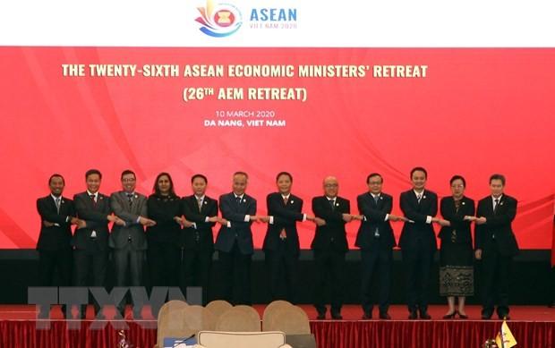 เปิดการประชุมรัฐมนตรีเศรษฐกิจอาเซียนจำกัดวงครั้งที่ 26 - ảnh 1