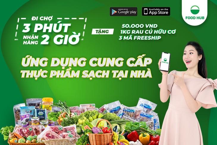 แอพพลิเคชั่น Food Hub ให้บริการส่งอาหารอินทรีย์ปลอดสารพิษจากฟาร์มถึงบ้าน - ảnh 1