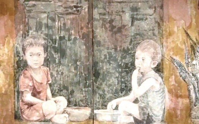 จิตรกรหวูท้ายบิ่งกับการวาดภาพบนกระดาษสา - ảnh 1