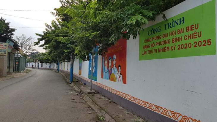 จิตรกรรมฝาผนังในถนนสายต่างๆในนครโฮจิมินห์สื่อถึงคุณค่าที่ดีงาม - ảnh 1