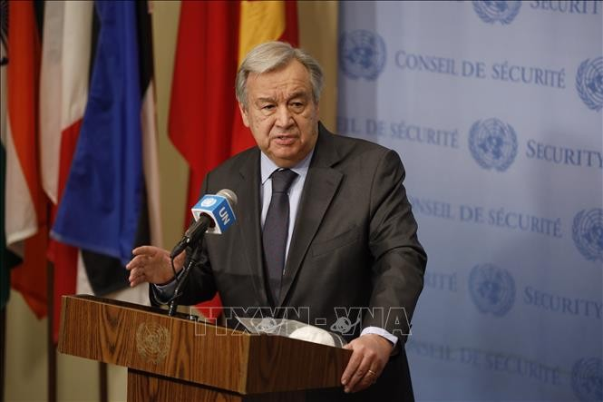 เลขาธิการใหญ่สหประชาชาติเรียกร้องให้ปกป้องเจ้าหน้าที่พนักงานของสหประชาชาติ องค์กร NGO และนักข่าว - ảnh 1
