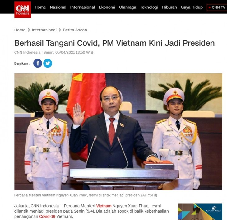 สื่ออินโดนีเซียรายงานข่าวการเลือกผู้นำชุดใหม่ของเวียดนาม - ảnh 1