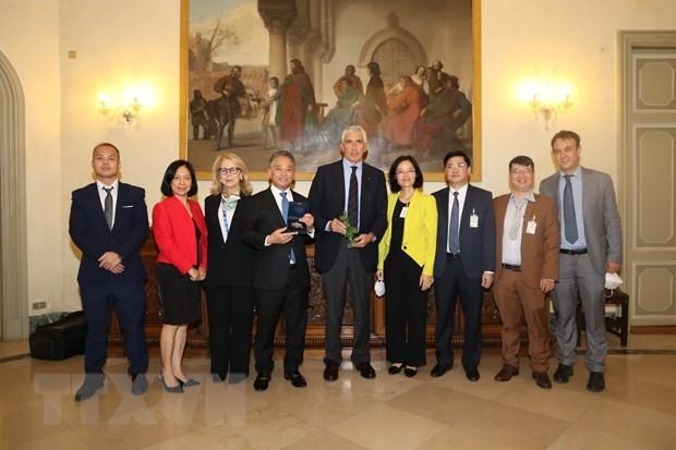 คณะผู้แทนสภาแห่งชาติเวียดนามเข้าร่วมการประชุม IPU Pre-COP26 - ảnh 1